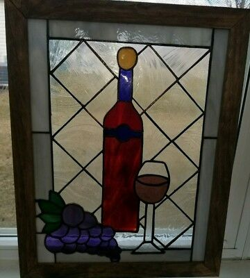 Wine Stained Glass Window