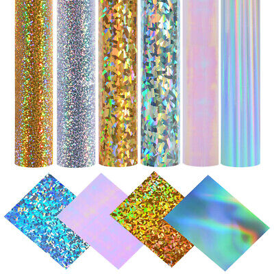 Self Adhesive Sign Vinyl Chrome Iridescent Holographic Film Cricut Craft Sheets