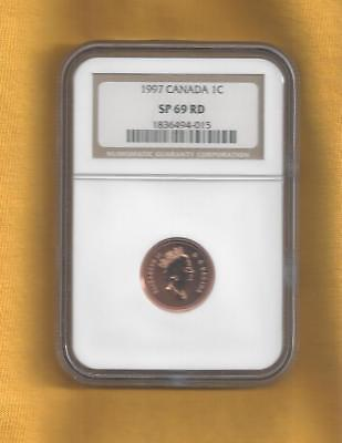 1997 Canada Small Cent Sp-69 Red Ngc