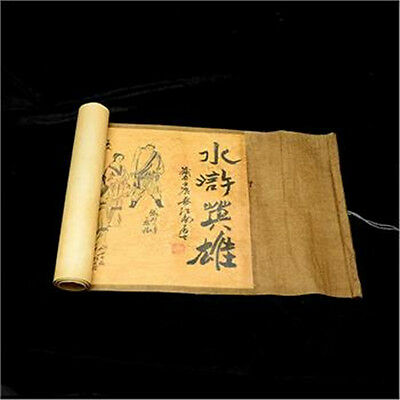 "133"" Collection of Chinese Old scroll painting on silk: the Water margin"