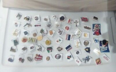 lot of 60 vintage Advertising and more lapel pin pinbacks