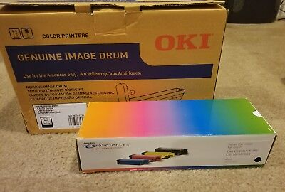 OKI Genuine Image Drum and Toner BLACK C6100 + C6150 Series