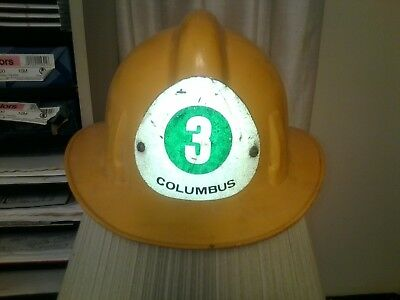 **Vintage MSA Plastic** Columbus, Ohio Fire Department Fire Fighter's Helmet