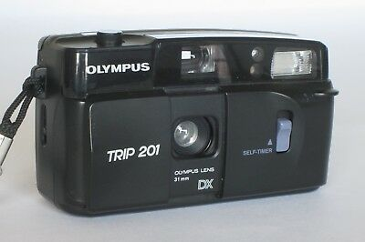 Olympus Trip 201 - w/ Case Working & Tested! Compact 35mm Film Camera