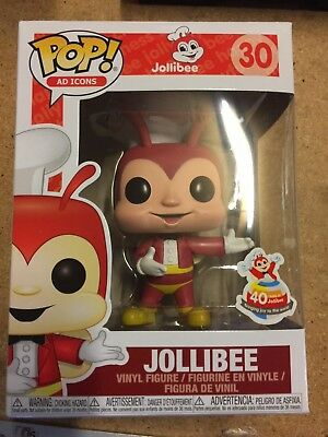 Funko Pop! JOLLIBEE Ad Icons 40th Anniversary Philippines W Pop Protector.