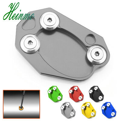 Kickstand Side Stand Extension Plate Pad For KAWASAKI ER6N ER6F ZX6R Z1000 Z800
