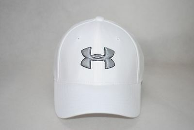 NEW Under Armour Youth Boys UA Blitzing 3.0 Cap Stretch Fit Baseball Hat White -