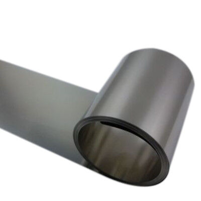 Silver 304 Stainless Steel Fine Plate Sheet Foil  0.2mm x 100mm x 1M