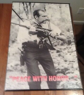"VINTAGE & RARE RICHARD NIXON "" PEACE WITH HONOR""~ 1970s POLITICAL POSTER ~ NOS"