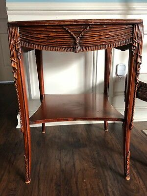 Vintage Mahogany leather insert end tables