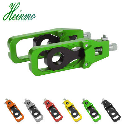 CNC Rear Axle Spindle Chain Adjuster Tensioners Catena FOR KAWASAKI Z900 2017 18