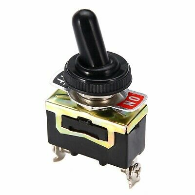 Heavy Duty On Off Mini Small SPST Toggle Switch Miniature + Waterproof Cover 12V