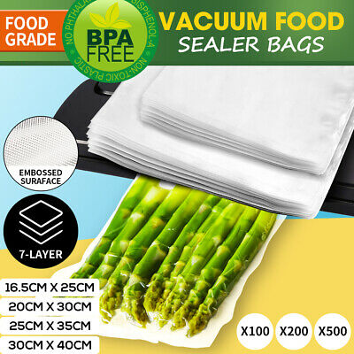 100/200/500x Vacuum Food Sealer Saver Seal Bags Storage Commercial Heat Grade