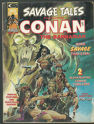 Savage Tales # 4,iconic Neal Adams Conan cover,N. Adams and Barry Windsor-Smith