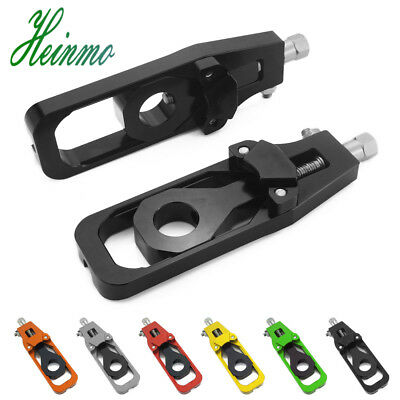 CNC Aluminum Chain Adjuster Tensioner Rear Axle Spindle For KAWASAKI Z900 2017