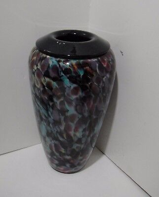 Charles Correll Art Glass Vase Studio Art Glass Stunning Artist Signed