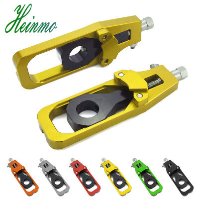 Motorcycle Rear Axle Spindle Chain Adjuster Block Tensioners For Kawasaki Z900