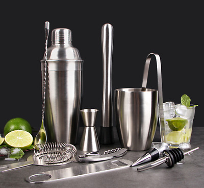 250/350/750 ml 5/7 Pcs Bar Cocktail Shaker Bartender Martini Set Kit Hot Quality