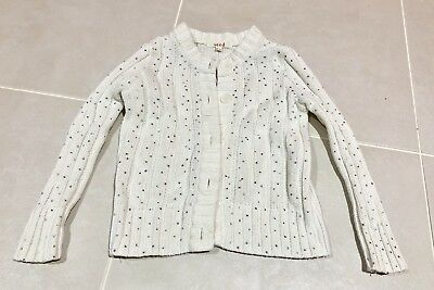 seed girls Jumper  size 3 -4 White RRP $55
