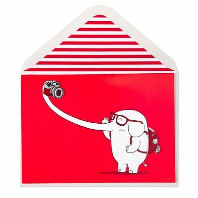 PAPYRUS Greeting Card BIRTHDAY Unique Cute Sealed Celebrate Sweet Elephant Self