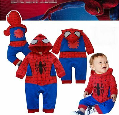 Baby Boy Spiderman Superhero Christmas Fancy Dress Party Costume Outfit Clothes