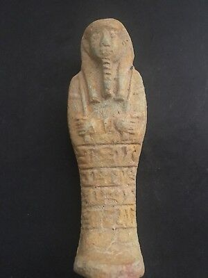 Rare Ancient Egyptian Faience Shabti  (945-715 BC.)