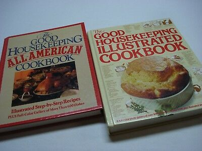 Lot Of 2 Good Housekeeping Illustrated And All American Hardcover Cookbooks