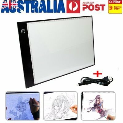 Genuine LED Tracing Light Box Board Art Tattoo Copy A4 Drawing Pad Table Stencil