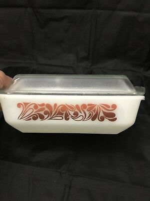 vintage pyrex casserole dish white With Retro Design with lid rectangle glass