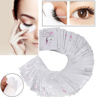 100pairs Eyelash Extensions Under Eye Lint Free Eye Gel Patches Pad Makeup tools