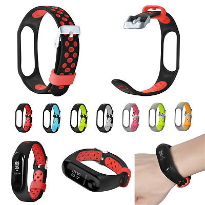 Dual Colors Soft Silicone Strap for Xiaomi Mi Band 3 Miband 3 Smart Watch Band