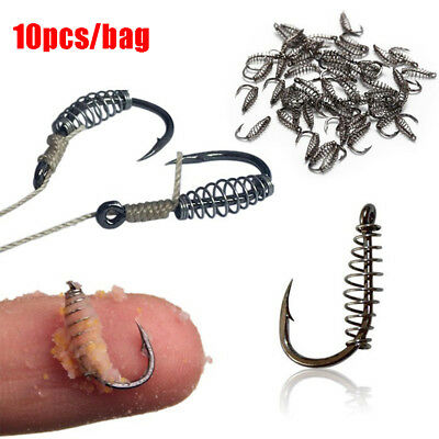 10pcs/bag Fish Jig Hooks with Hole Fishing Tackle Bag 11 Sizes Carbon Steel
