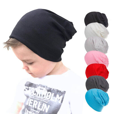 Toddler Infant Kids Baby Boys Girls Cotton Soft Hip Hop Hat Soft Cap Beanie