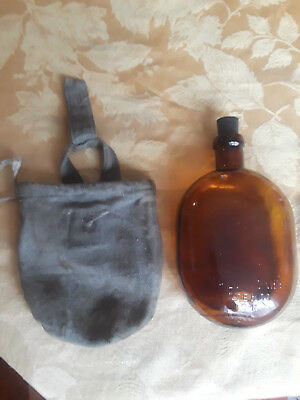 Original Ww2 Russian Soviet Army Glass Canteen With Pouch