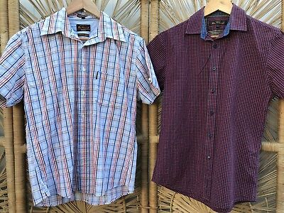 CLOSING DOWN SALE!!!! Lot of 2 Vintage Men's Short Sleeved Shirts Lot #57