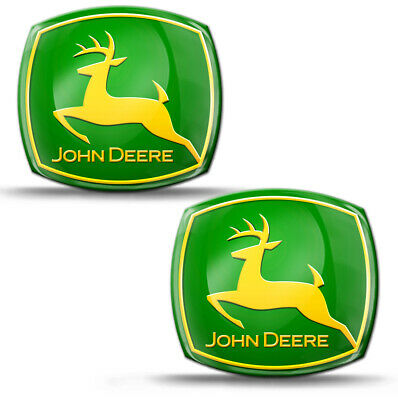 2 Domed Stickers Decals Auto Moto Tunning John Deere Tractor Agriculture KS 59