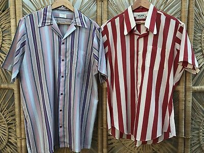 CLOSING DOWN SALE!!!! Lot of 2 Vintage Men's Short Sleeved Shirts Lot #58
