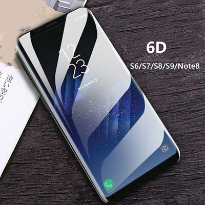 6D Curved Tempered Glass Screen Protector For Samsung Galaxy S8 S9 Plus Note 8