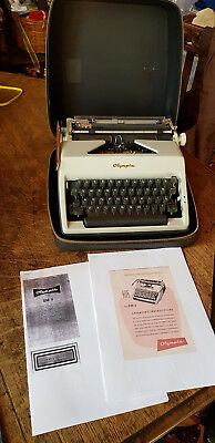 Vintage Olympia SM 9 1975 DeLuxe Typewriter in case