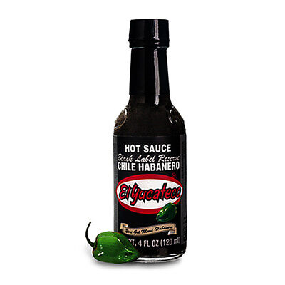 Chilli Sauce - El Yucateco Habanero Black Label Reserve 120ml Mexican