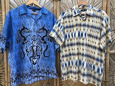 CLOSING DOWN SALE!!!! Lot of 2 Vintage Men's Short Sleeved Shirts Lot #61
