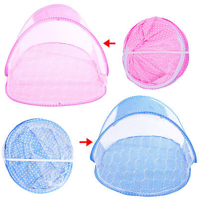 Pink Blue Portable Baby Infant Foldable Travel Bed Crib Canopy Mosquito Net Tent