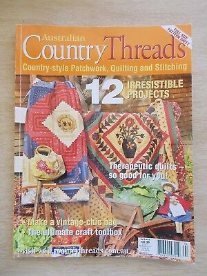Australian Country Threads Vol 5 #6~Quilts~Nurse~Bag~Cross Stitch~Embroidery...