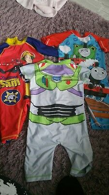 Boys Swimsuits Age 3-4 4-5 Buzz Thomas Fireman Sam