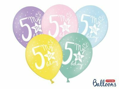 Pastel Children's Party Balloons - My 1st, 2nd, 3rd, 4th, 5th Birthday 6/7/8/9th