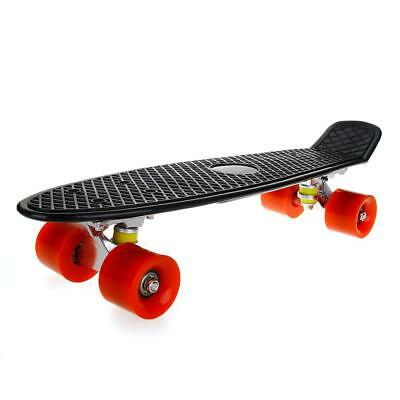 Retro Fish Style Skate board Complete Deck Mini for Young People BLACK 22inch