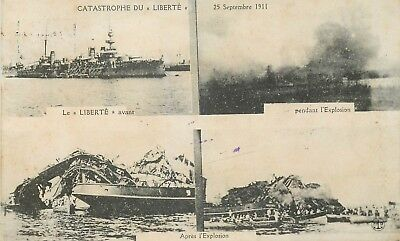 Cp Catastrophe Du Liberte 25 Septembre 1911 Multivues - Chocolat Louit