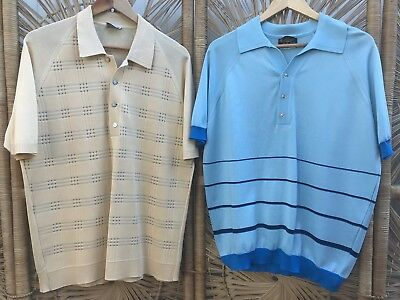 CLOSING DOWN SALE!!!! Lot of 2 Vintage Men's Short Sleeved Shirts Lot #66