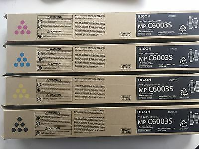 Genuine New Ricoh C6003S Black, Cyan, Magenta & Yellow toners