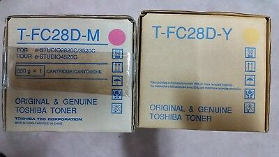 Genuine Toshiba T-FC28D-M, T-FC28D-Y (NO BLACK, NO CYAN) for e-Studio